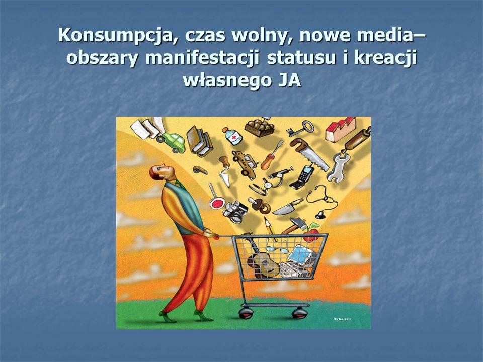 Konsumpcja, czas wolny, nowe media– obszary manifestacji statusu i kreacji własnego JA