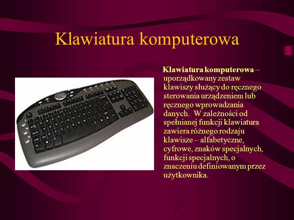 Monitor Monitor to ogólna nazwa jednego z urządzeń wyjścia do bezpośredniej komunikacji operatora z komputerem.