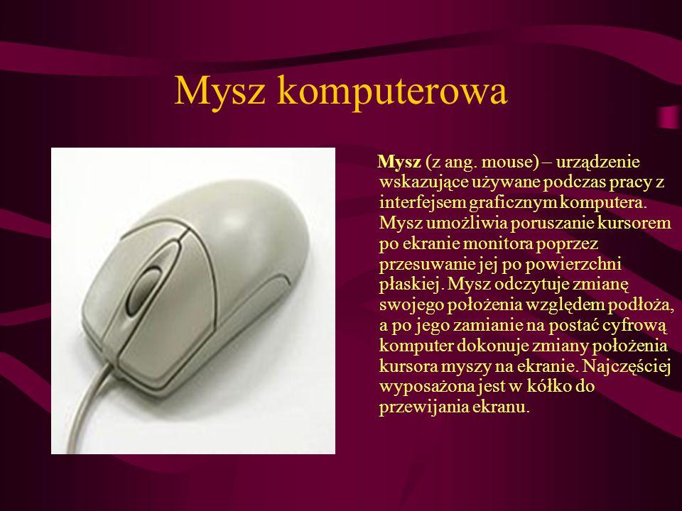 Klawiatura komputerowa Klawiatura komputerowa – uporządkowany zestaw klawiszy służący do ręcznego sterowania urządzeniem lub ręcznego wprowadzania danych.