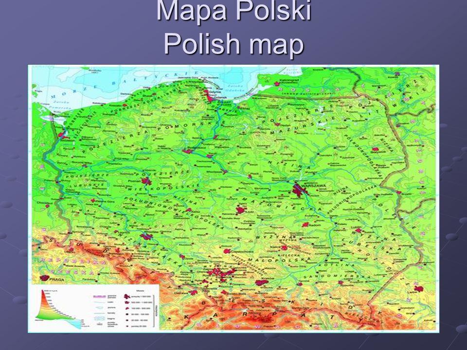 Mapa Polski Polish map