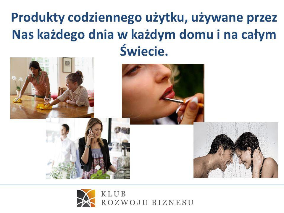 Produkty codziennego użytku, używane przez Nas każdego dnia w każdym domu i na całym Świecie.