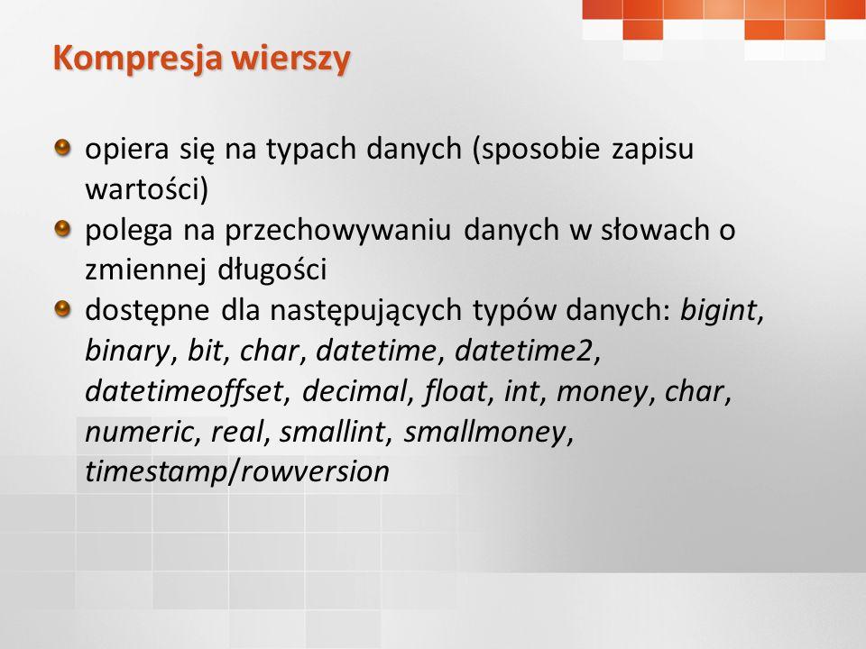 Kompresja wierszy - przykład DataCzas 2008-09-3015:00