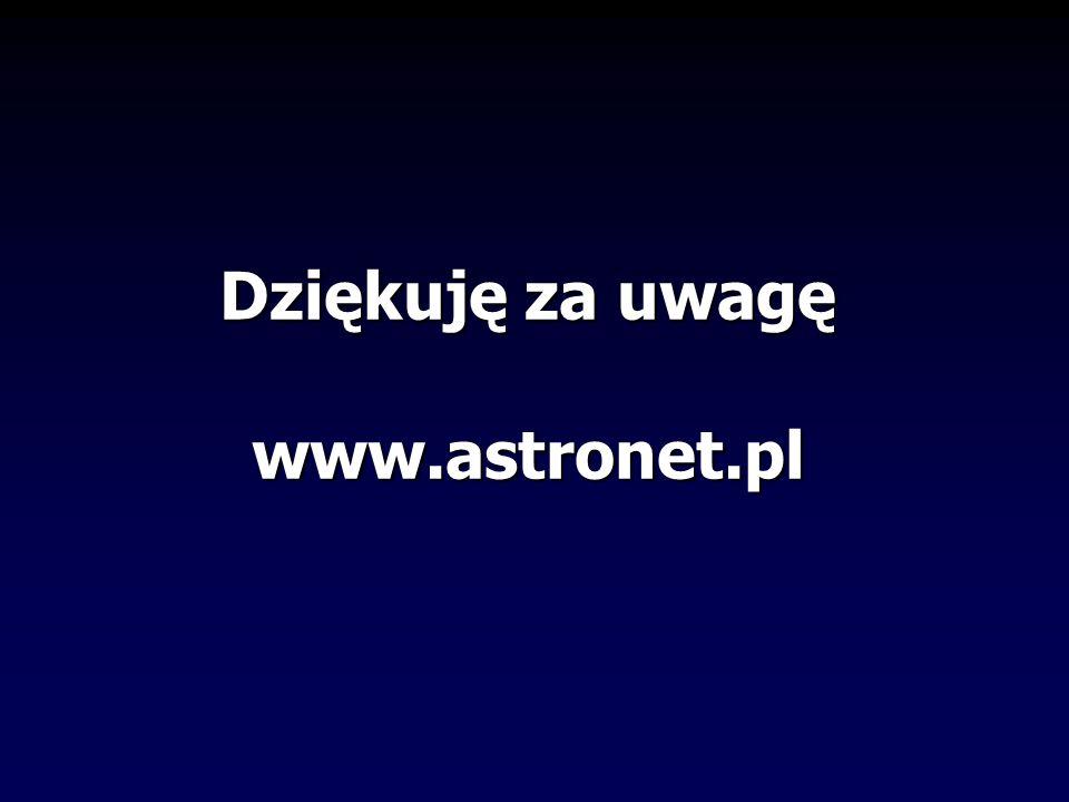 Dziękuję za uwagę www.astronet.pl