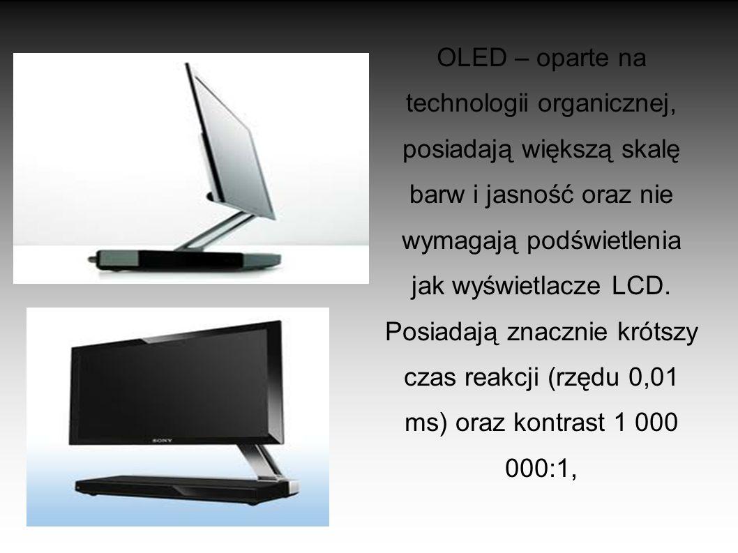 plazmowe – oparte na technologii plazmowej, wyglądające bardzo podobnie do LCD i tak jak one nie emitują szkodliwego promieniowania elektromagnetyczne