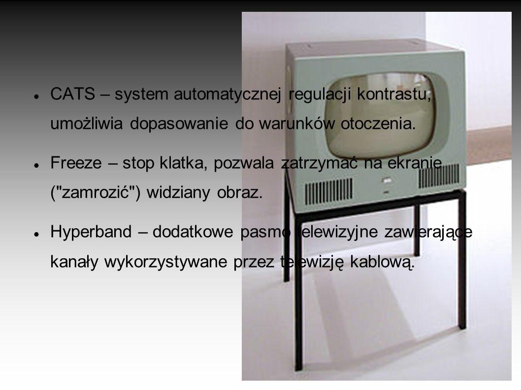 FUNKCJE SPOTYKANE W TELEWIZORACH Teletext – sygnał cyfrowy zawierający dane, które współczesne odbiorniki telewizyjne interpretują jako tekst. W telet