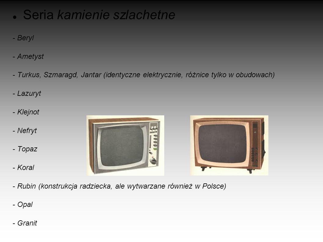 POLSKIE TELEWIZORY Pierwsze modele - Wisła - Belweder - OT1782 – wariant Belwedera z ekranem 17