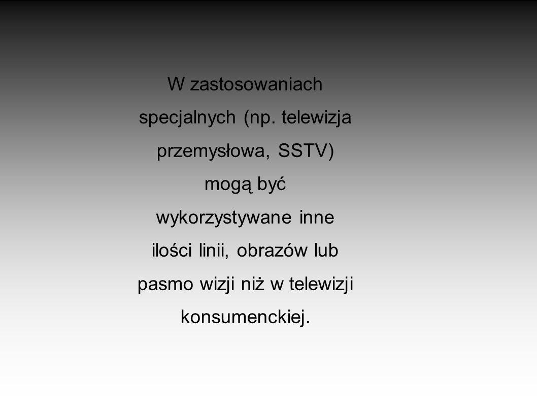 SYSTEMY KODOWANIA KOLORU Ponieważ początki telewizji były wyłącznie monochromatyczne (czarno- białe) to wprowadzenie do telewizji koloru wymusiło stwo