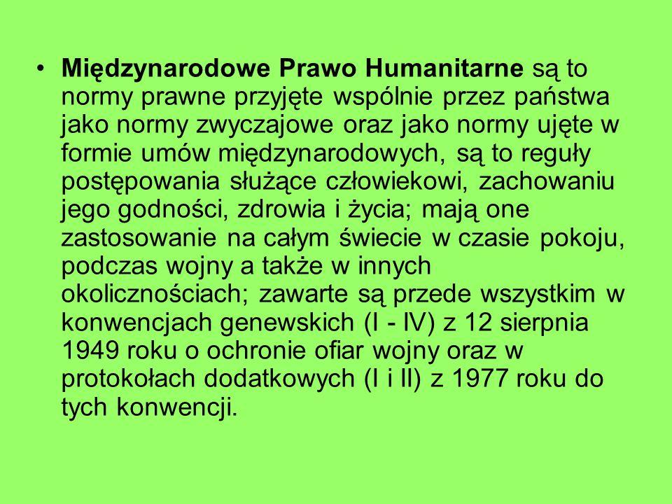 Cele i zadania Czerwonego Krzyża i Czerwonego Półksiężyca.