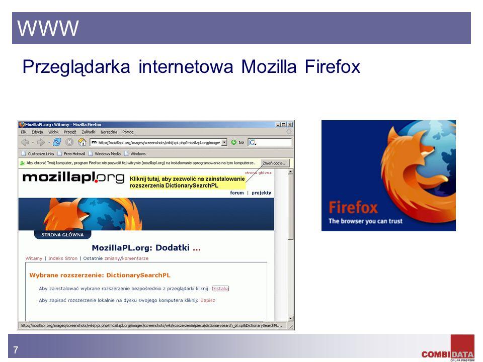 7 WWW Przeglądarka internetowa Mozilla Firefox