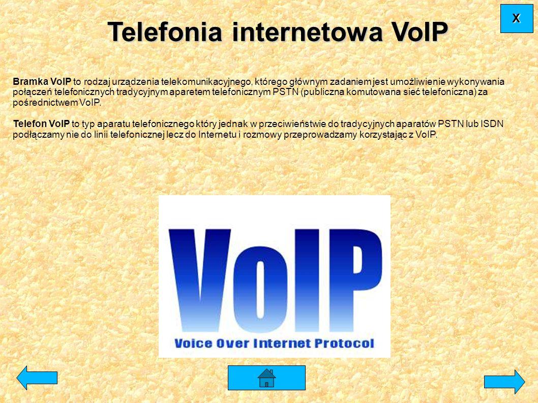 Telefonia internetowa VoIP Bramka VoIP to rodzaj urządzenia telekomunikacyjnego, którego głównym zadaniem jest umożliwienie wykonywania połączeń telef