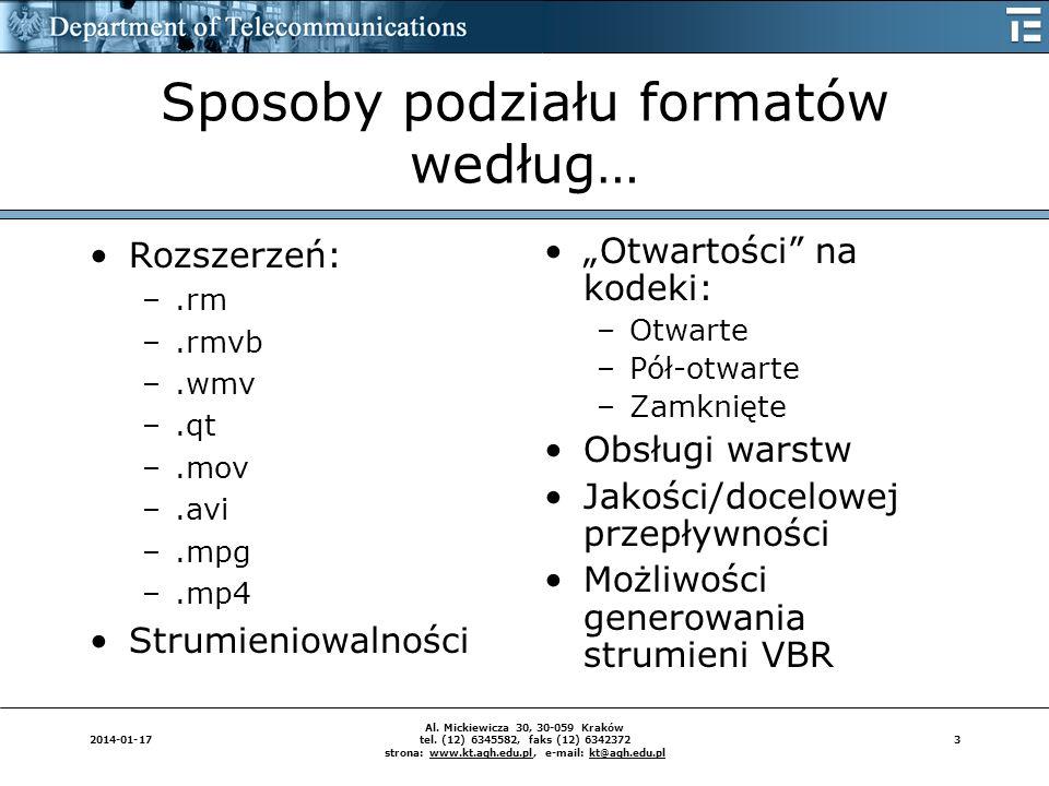32014-01-17 Al. Mickiewicza 30, 30-059 Kraków tel. (12) 6345582, faks (12) 6342372 strona: www.kt.agh.edu.pl, e-mail: kt@agh.edu.pl Sposoby podziału f