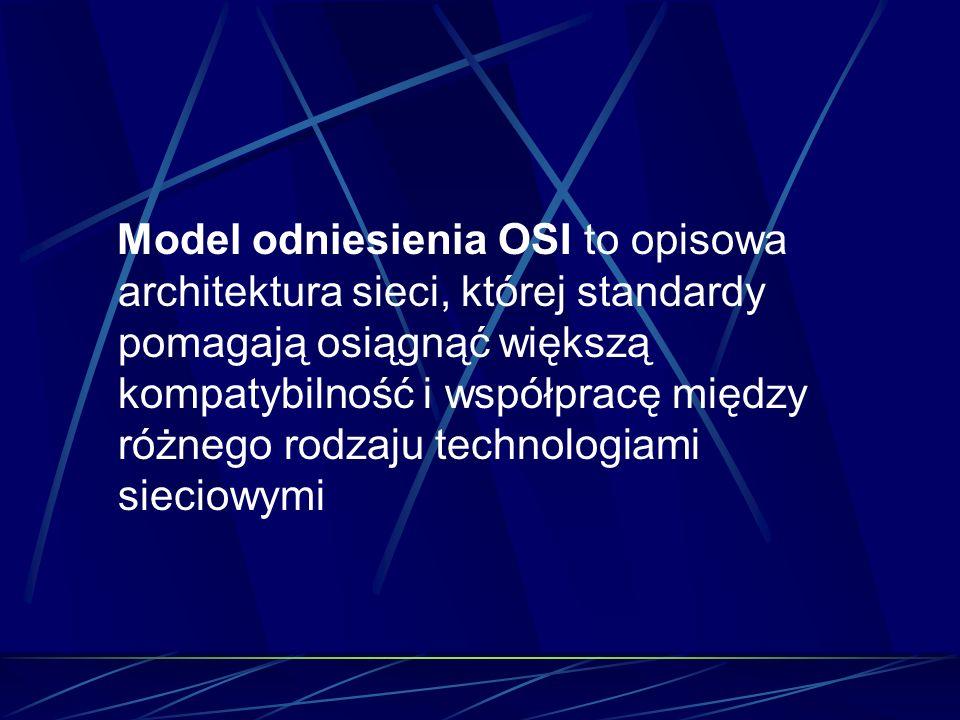 Model odniesienia OSI to opisowa architektura sieci, której standardy pomagają osiągnąć większą kompatybilność i współpracę między różnego rodzaju tec