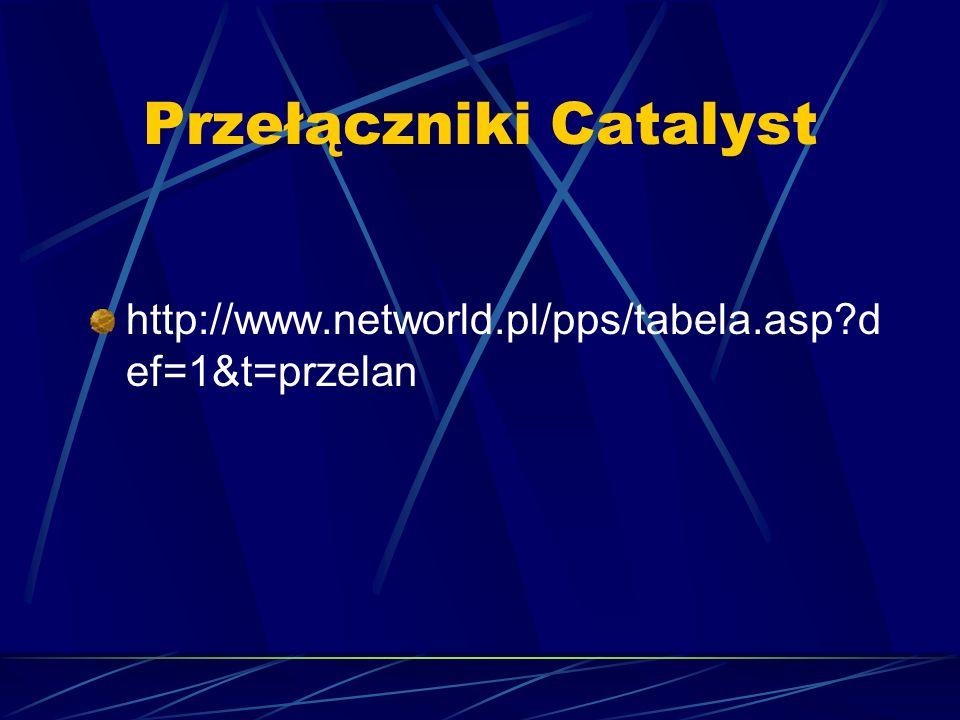 Przełączniki Catalyst http://www.networld.pl/pps/tabela.asp?d ef=1&t=przelan