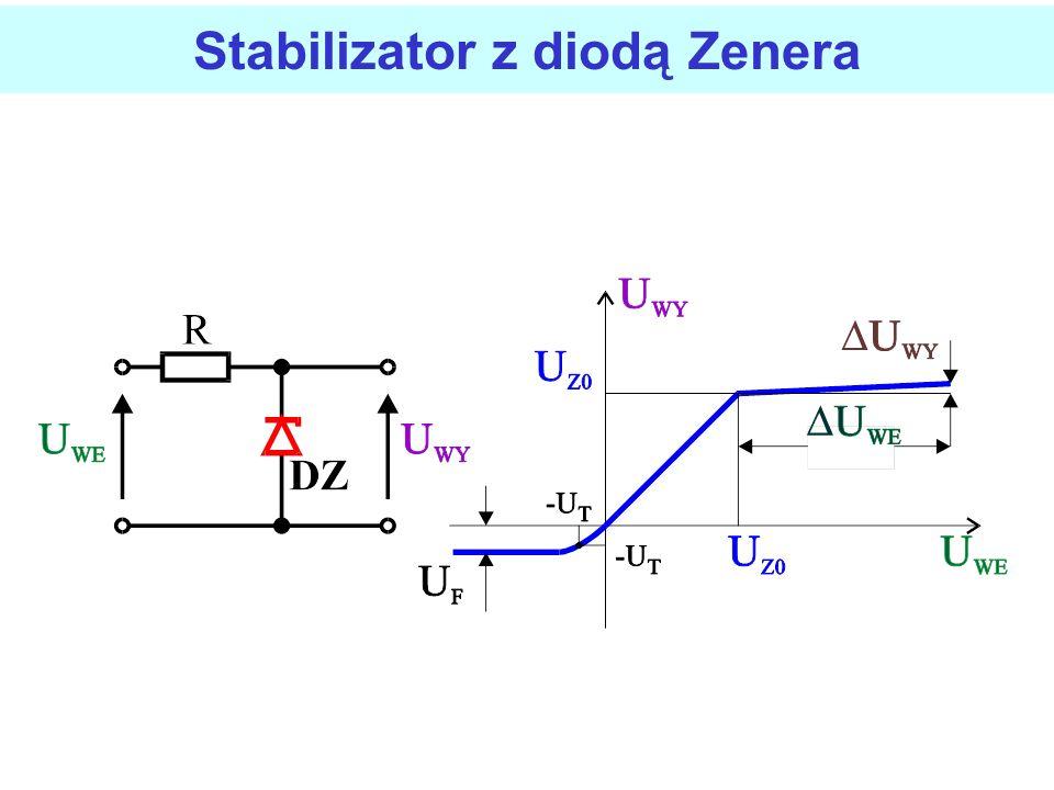 Najprostszym stabilizatorem napięcia jest układ z wykorzystaniem diody Zenera. Takie i podobne układy nazywane są również stabilizatorami parametryczn