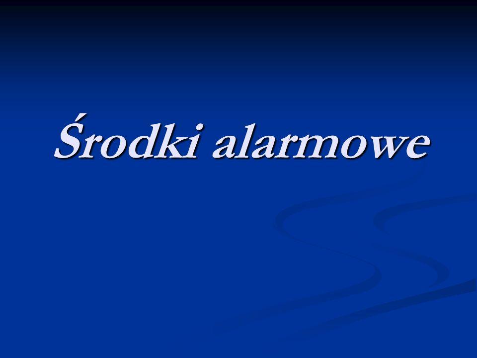 Akustyczny system alarmowy Dzwonek ręczny - jest on najprostszym urządzeniem, którym można poinformować o zagrożeniu.