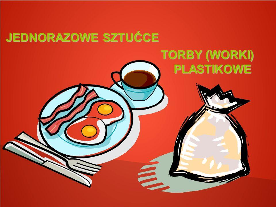 JEDNORAZOWE SZTUĆCE TORBY (WORKI) PLASTIKOWE