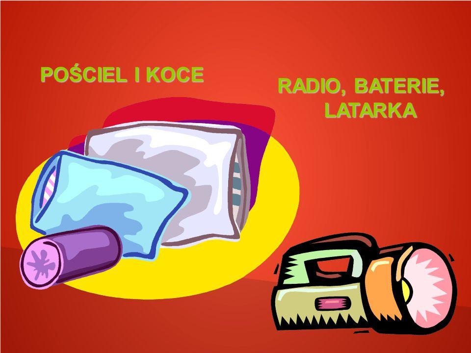 POŚCIEL I KOCE RADIO, BATERIE, LATARKA