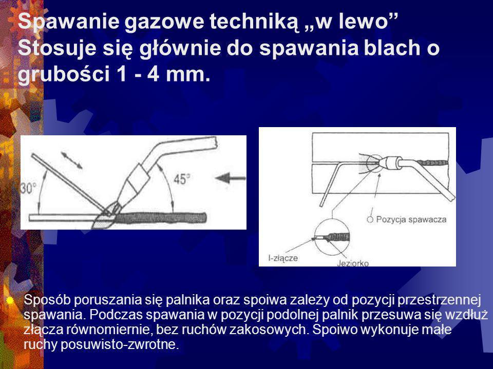 Spoina dwustronna pachwinowa: w złączu narożnym (z odstępem) w złączu narożnym (bez odstępu) w złączu teowym