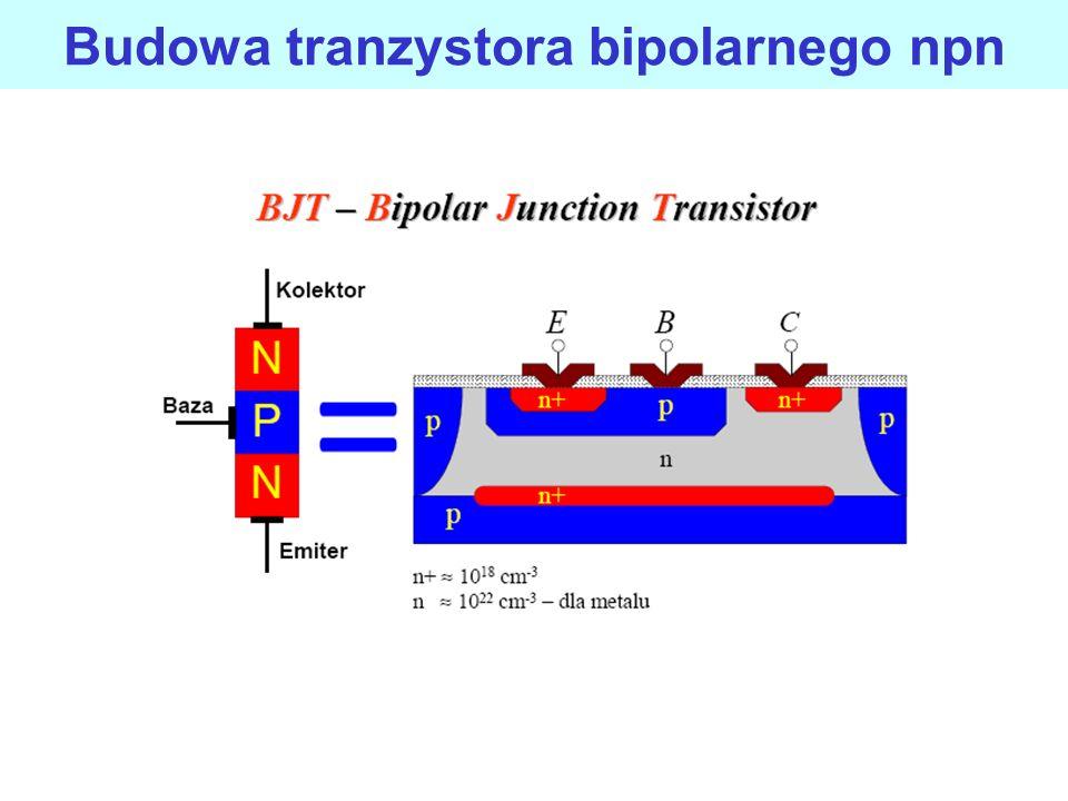 Symbol graficzny tranzystora bipolarnego npn