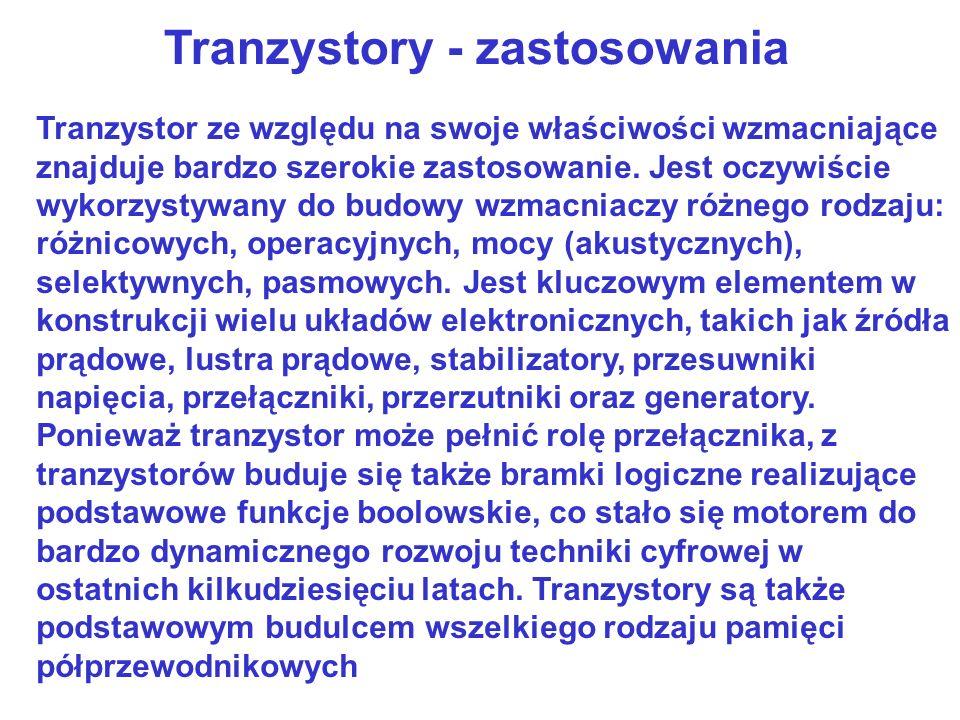 Tranzystor bipolarny – zasada działania http://www.eres.alpha.pl/elektronika/readarticle.php?article_id=7 O, już słyszę ten jęk: Ale czy to w ogóle można zrozumieć ?! No cóż, po wykonaniu wielu doświadczeń (na ludziach) jestem skłonny twierdzić, że można.