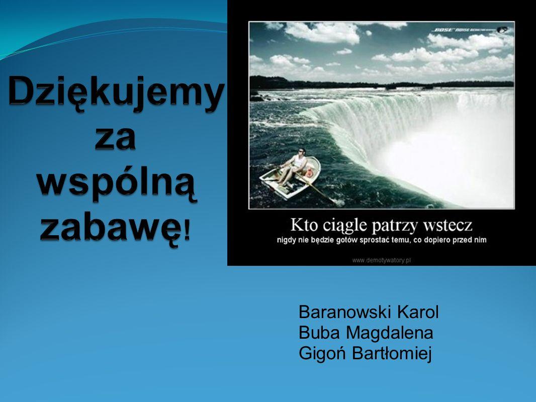 Baranowski Karol Buba Magdalena Gigoń Bartłomiej