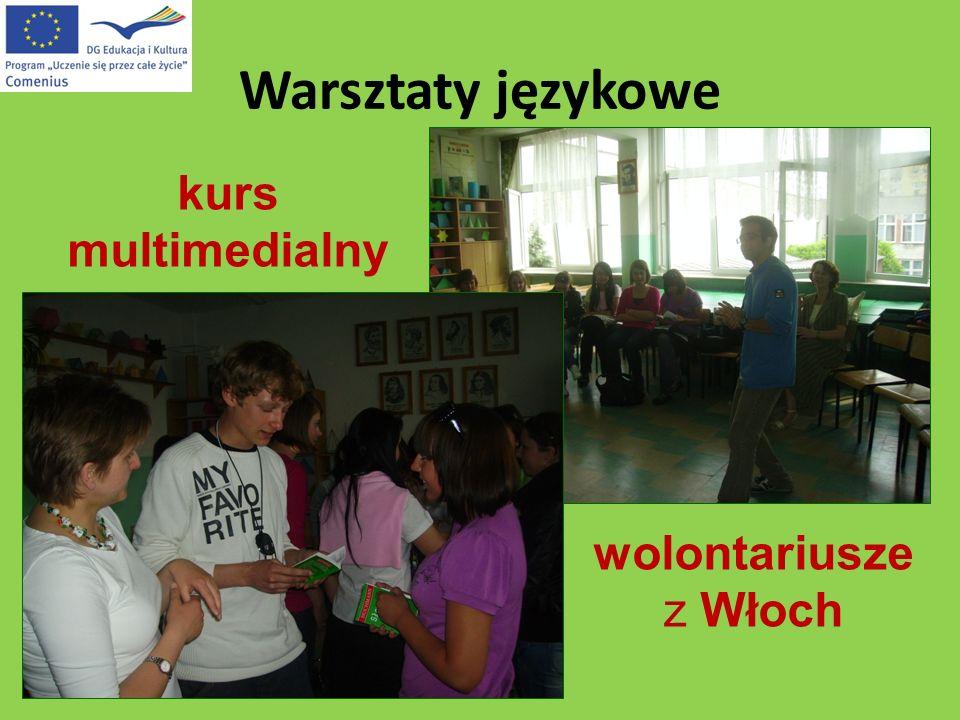 Warsztaty językowe kurs multimedialny wolontariusze z Włoch