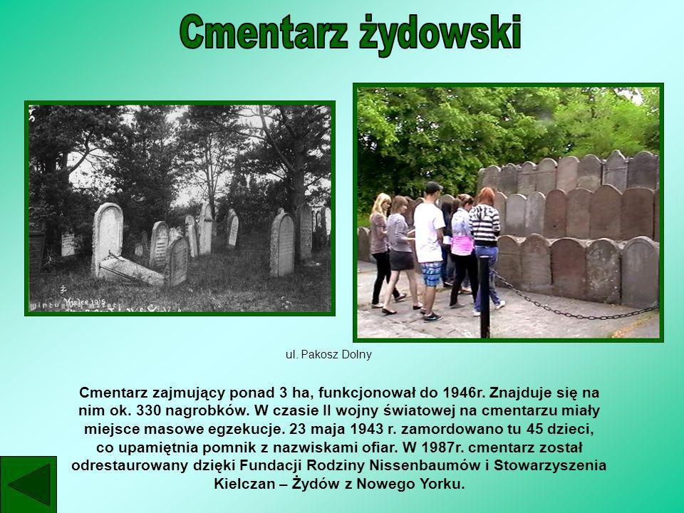 ul. Pakosz Dolny Cmentarz zajmujący ponad 3 ha, funkcjonował do 1946r. Znajduje się na nim ok. 330 nagrobków. W czasie II wojny światowej na cmentarzu