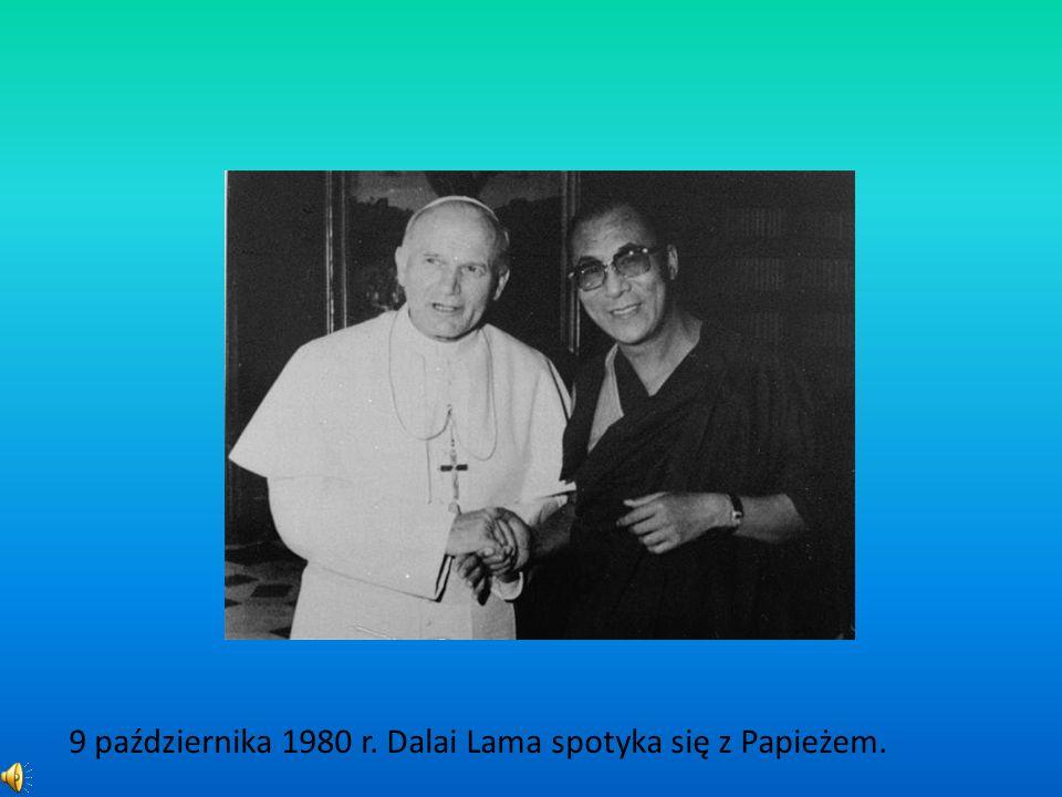 9 października 1980 r. Dalai Lama spotyka się z Papieżem.