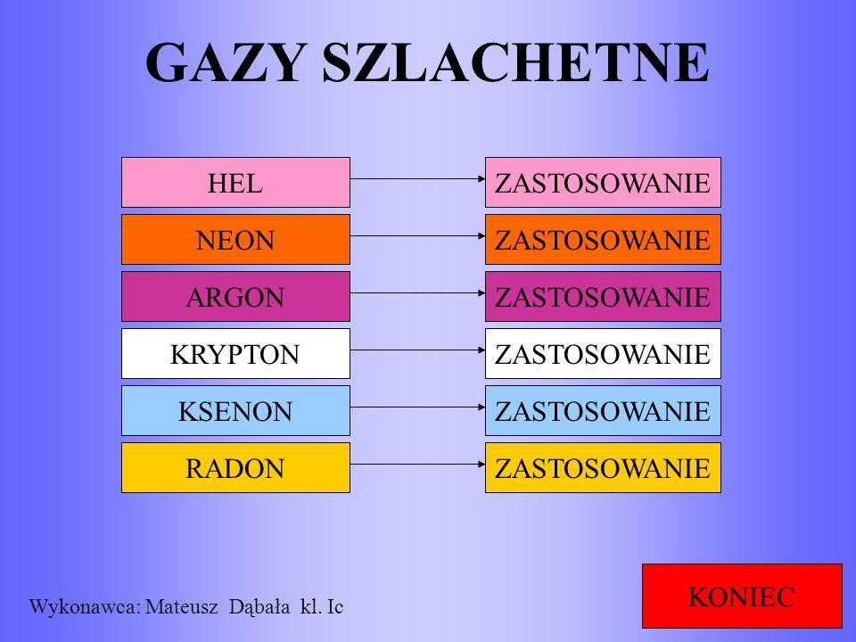RADON MENU Radon (Rn) – pierwiastek chemiczny z grupy gazów szlachetnych w układzie okresowym.