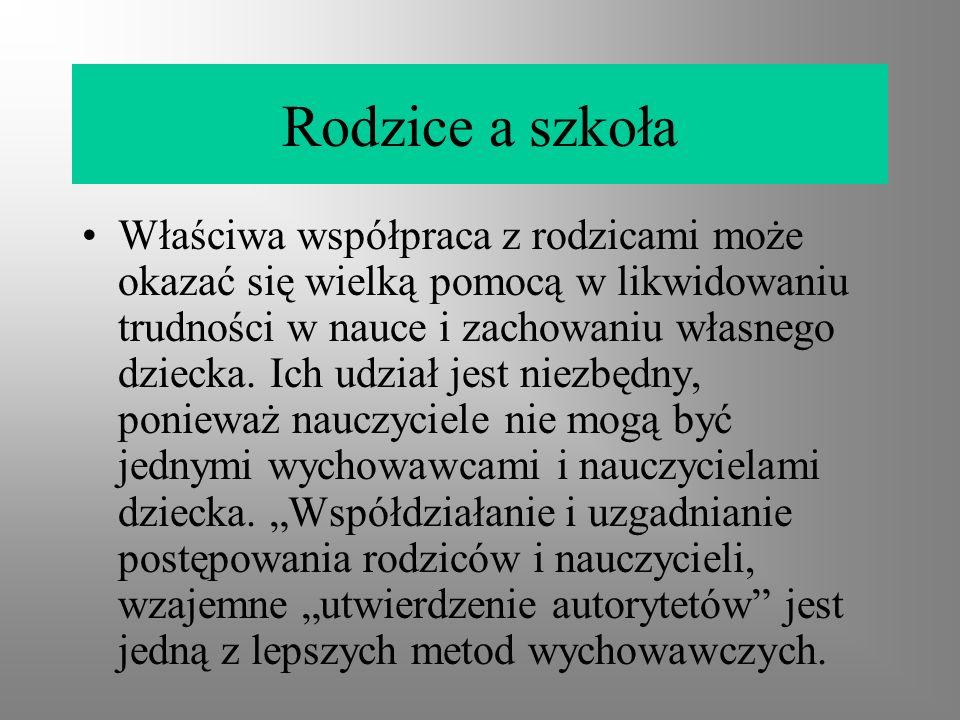 Status rodzica w aktach prawnych Konstytucja Rzeczpospolitej Polskiej Art.