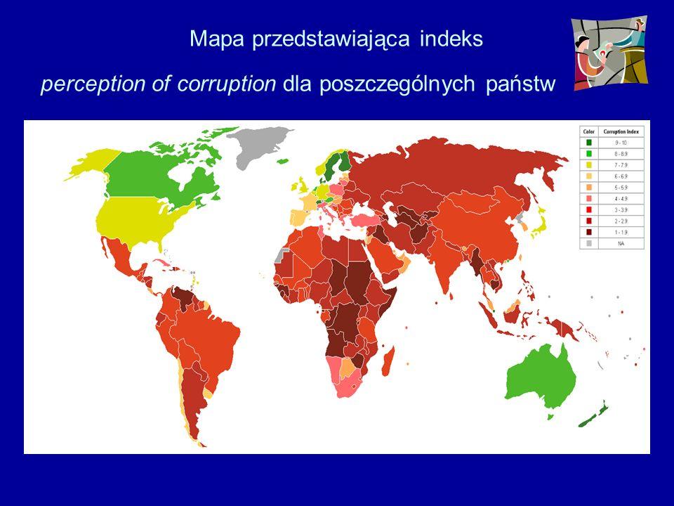 Według badania Transparency International (Wskaźnik Percepcji Korupcji, Corruption Perceptions Index, CPI), przeprowadzonego w 2004 roku w 146 państwa