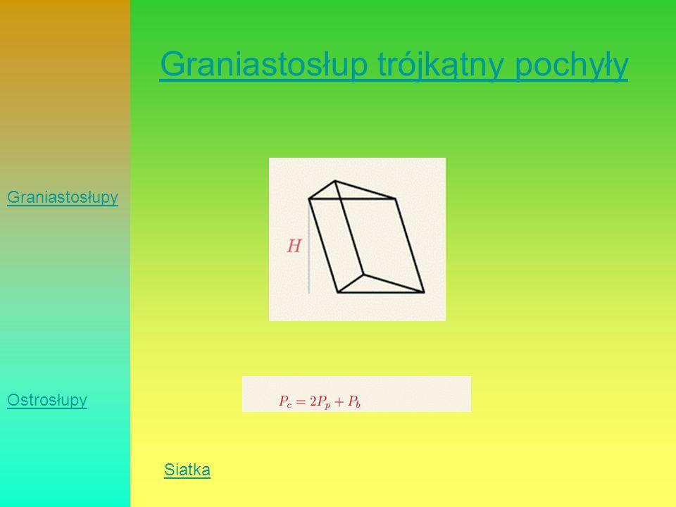 Graniastosłup trójkątny pochyły Siatka Graniastosłupy Ostrosłupy