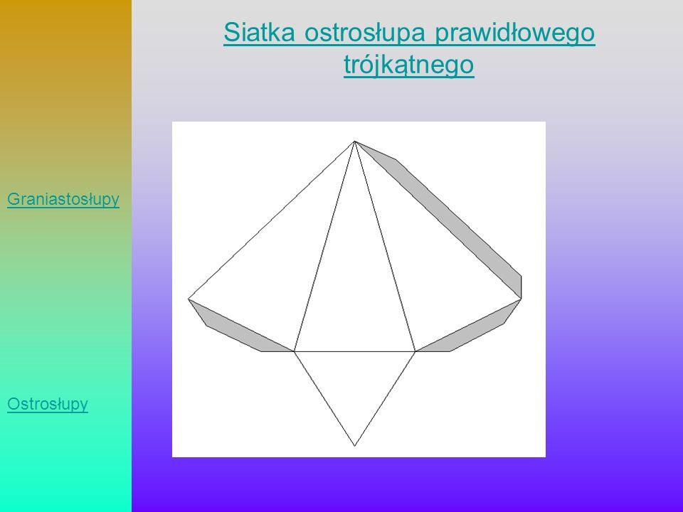 Siatka ostrosłupa prawidłowego trójkątnego Graniastosłupy Ostrosłupy