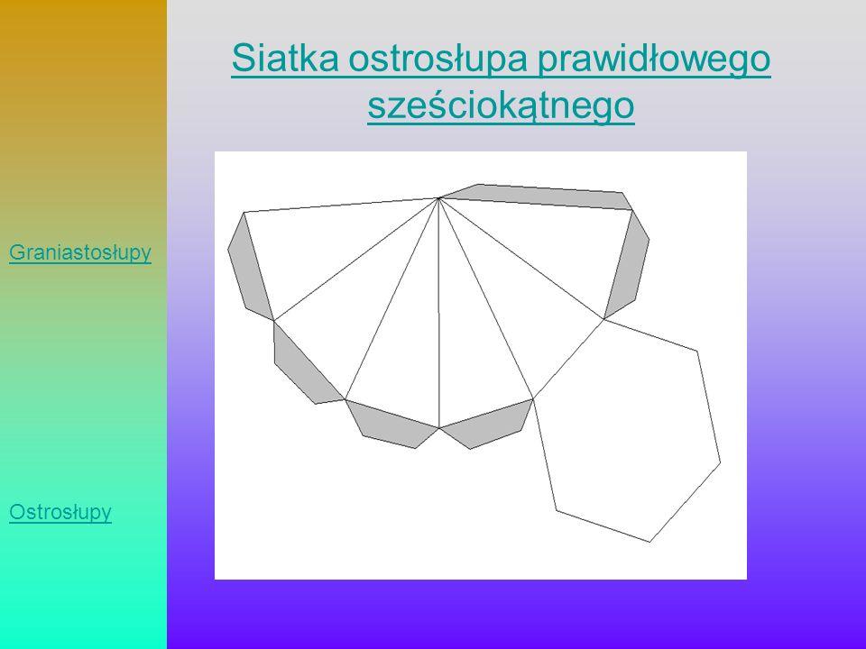 Siatka ostrosłupa prawidłowego sześciokątnego Graniastosłupy Ostrosłupy
