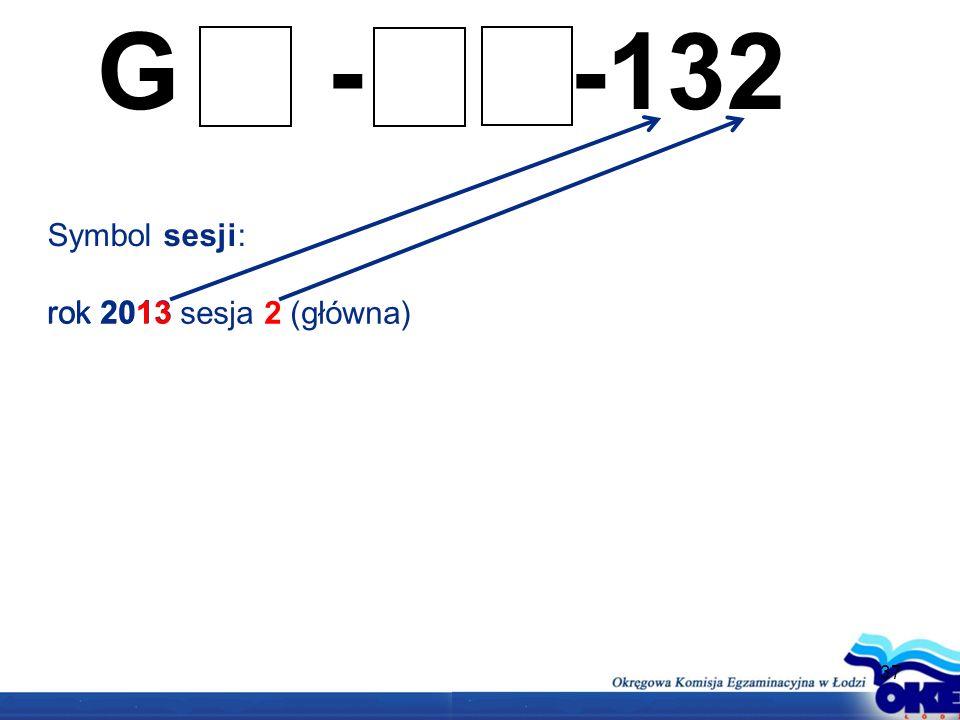 37 G - -132 Symbol sesji: rok 2013 sesja 2 (główna)rok 2013