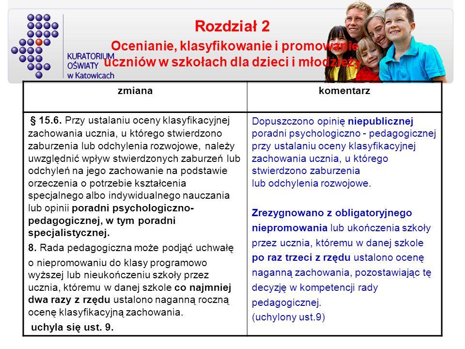 Rozdział 2 Ocenianie, klasyfikowanie i promowanie uczniów w szkołach dla dzieci i młodzieży zmianakomentarz § 15.6. Przy ustalaniu oceny klasyfikacyjn
