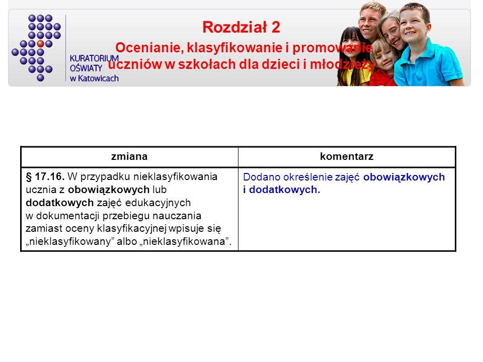 Rozdział 2 Ocenianie, klasyfikowanie i promowanie uczniów w szkołach dla dzieci i młodzieży zmianakomentarz § 17.16. W przypadku nieklasyfikowania ucz