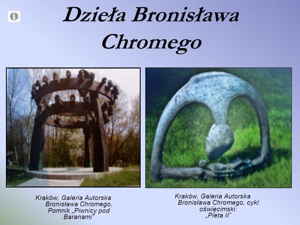 Dzieła Bronisława Chromego Kraków, Galeria Autorska Bronisława Chromego, Pomnik Piwnicy pod Baranami Kraków, Galeria Autorska Bronisława Chromego, cyk