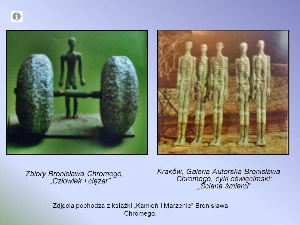 Zbiory Bronisława Chromego, Człowiek i ciężar Kraków, Galeria Autorska Bronisława Chromego, cykl oświęcimski: Ściana śmierci Zdjęcia pochodzą z książk