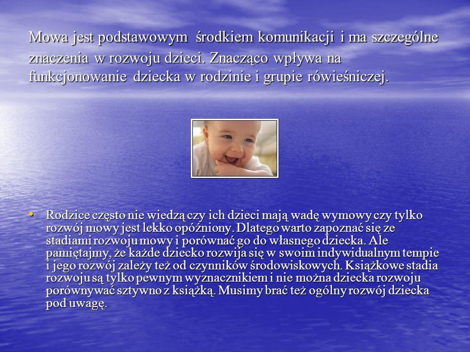 Mowa jest podstawowym środkiem komunikacji i ma szczególne znaczenia w rozwoju dzieci. Znacząco wpływa na funkcjonowanie dziecka w rodzinie i grupie r