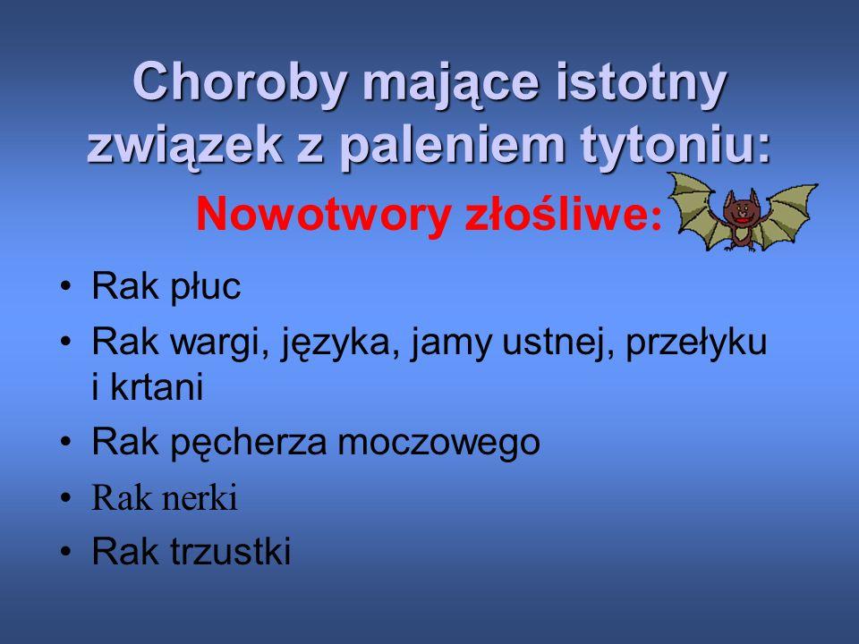 W Polsce choroby te są przyczyną zgonu co drugiego palacza w wieku 35-69 lat! Każdy papieros skraca życie o 5,5 minuty, czyli przeciętny palacz dobrow