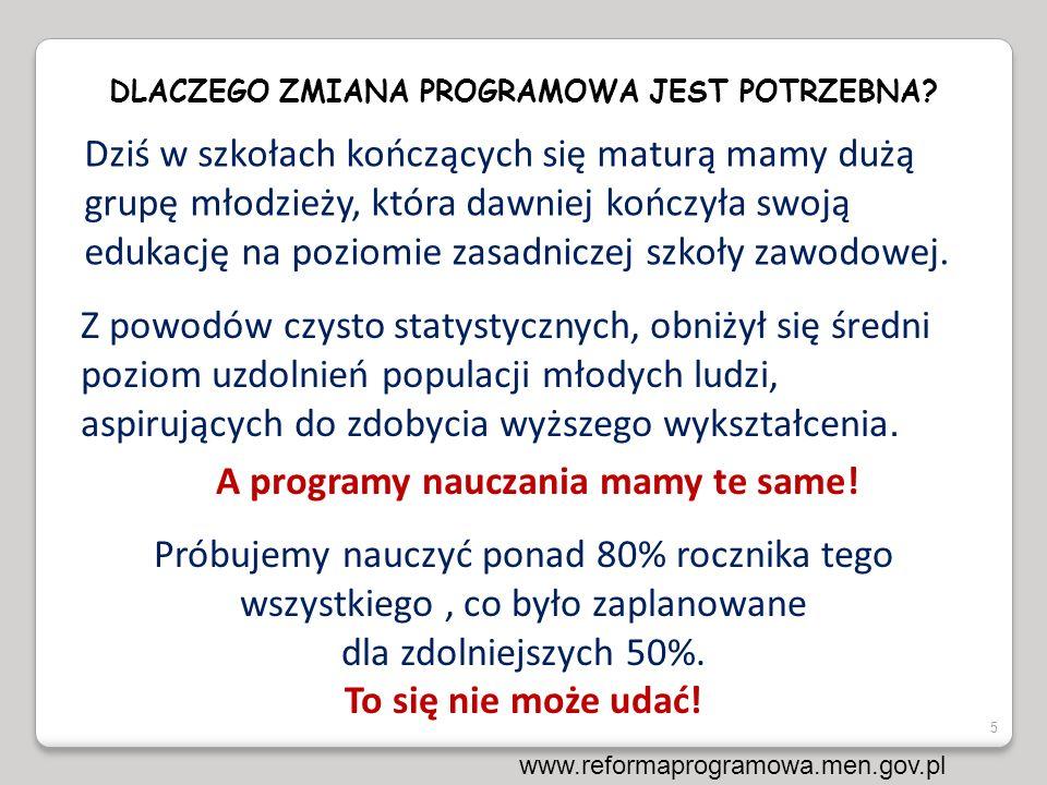Przed rokiem 2000:Szkoły z maturą ZSZ Studia 50% 50% ~400 tys.
