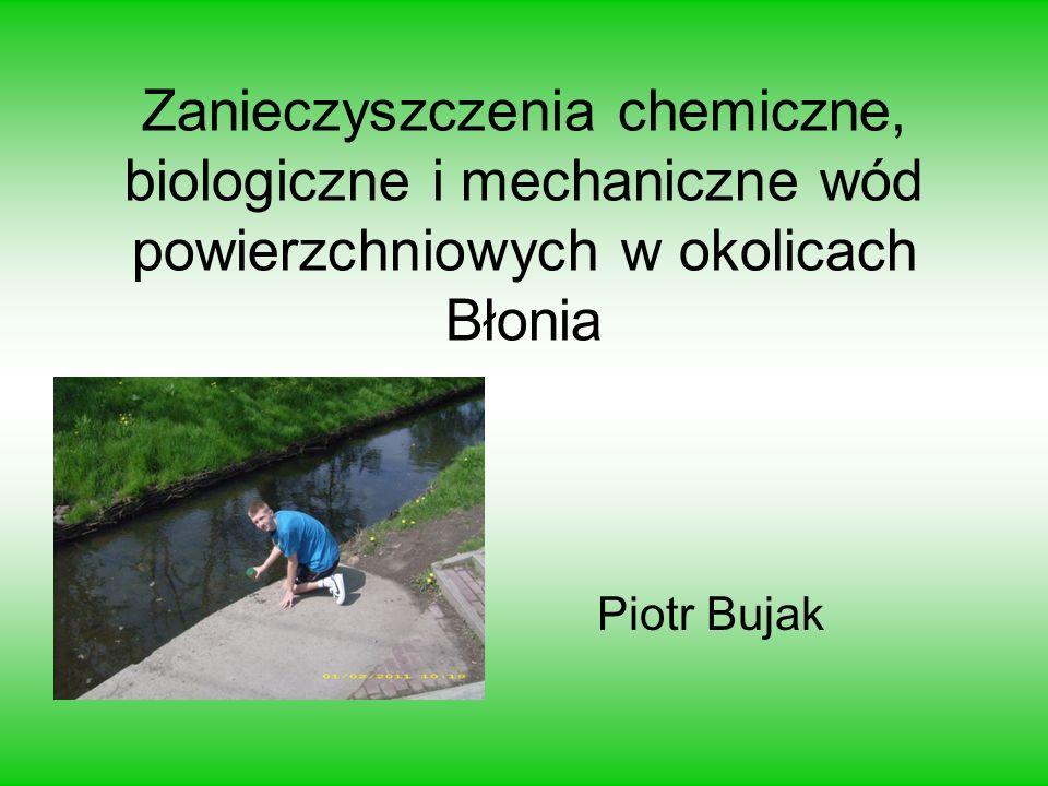 Zanieczyszczenia chemiczne, biologiczne i mechaniczne wód powierzchniowych w okolicach Błonia Piotr Bujak