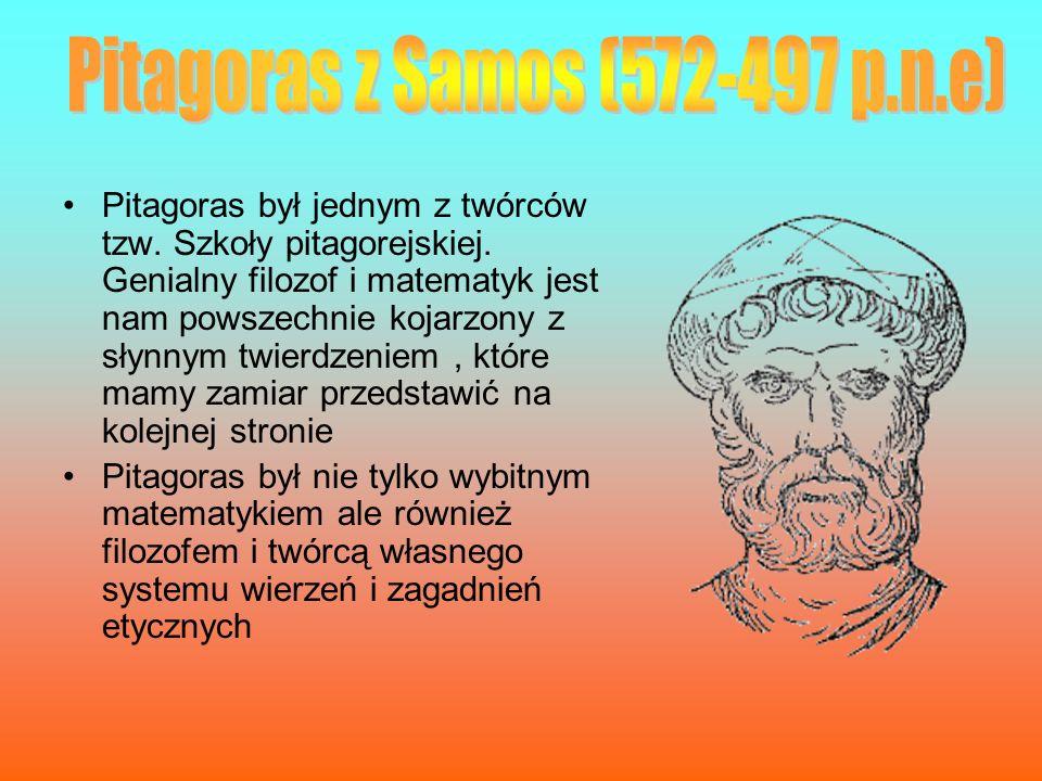Pitagoras był jednym z twórców tzw. Szkoły pitagorejskiej. Genialny filozof i matematyk jest nam powszechnie kojarzony z słynnym twierdzeniem, które m