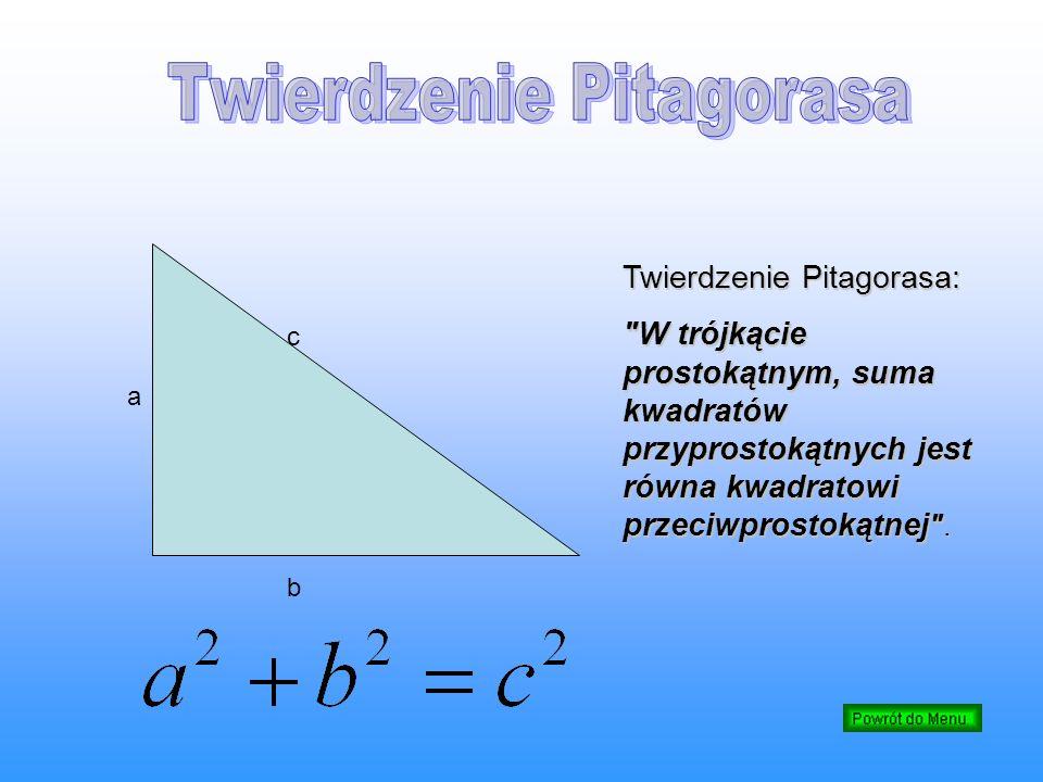 cbcb a Twierdzenie Pitagorasa: