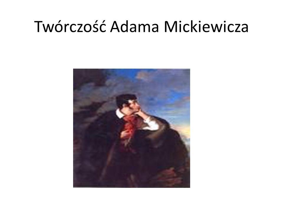 Adam Mickiewicz wiele podróżował. Na poniższej mapce zaznaczonych jest większość podróży wieszcza