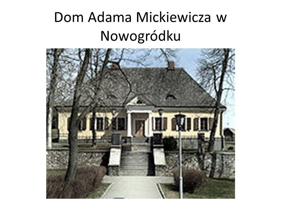 Narodziny i dzieciństwo Adama Mickiewicza Adam Mickiewicz przyszedł na świat 24 grudnia 1798r. Jeden z pięciu synów Mikołaja Mickiewicza oraz jego żon
