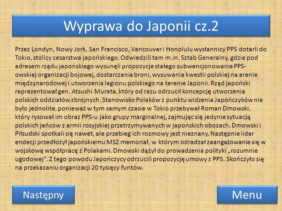 Wyprawa do Japonii cz.2 Menu Przez Londyn, Nowy Jork, San Francisco, Vancouver i Honolulu wysłannicy PPS dotarli do Tokio, stolicy cesarstwa japońskie