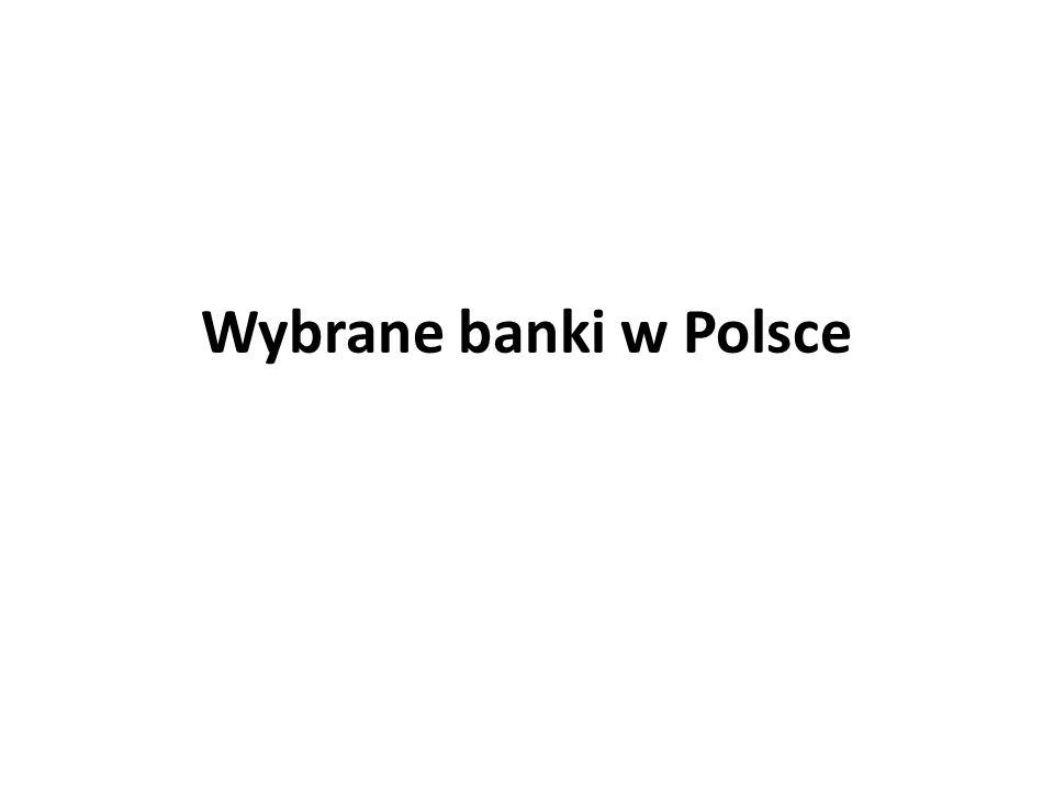 Wybrane banki w Polsce