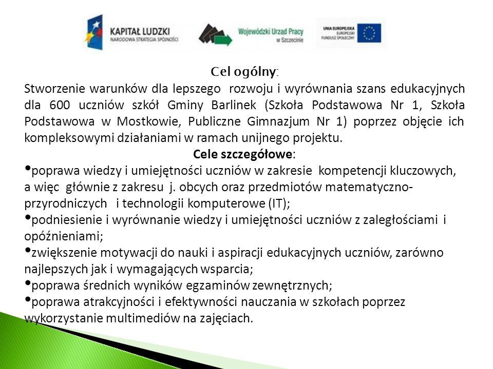 Szkoła Podstawowa im.Jana Pawła II w Mostkowie W projekcie uczestniczy 71 uczniów ze szkoły tj.